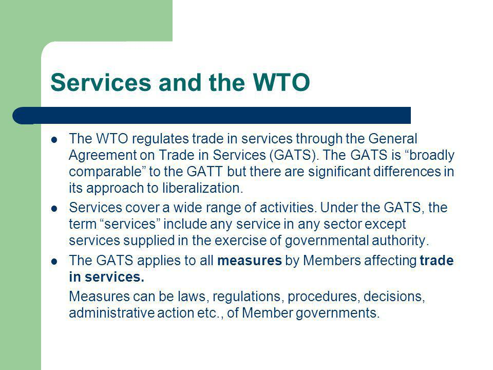 Services and the WTO
