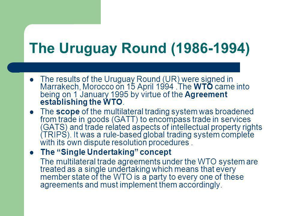 The Uruguay Round (1986-1994)
