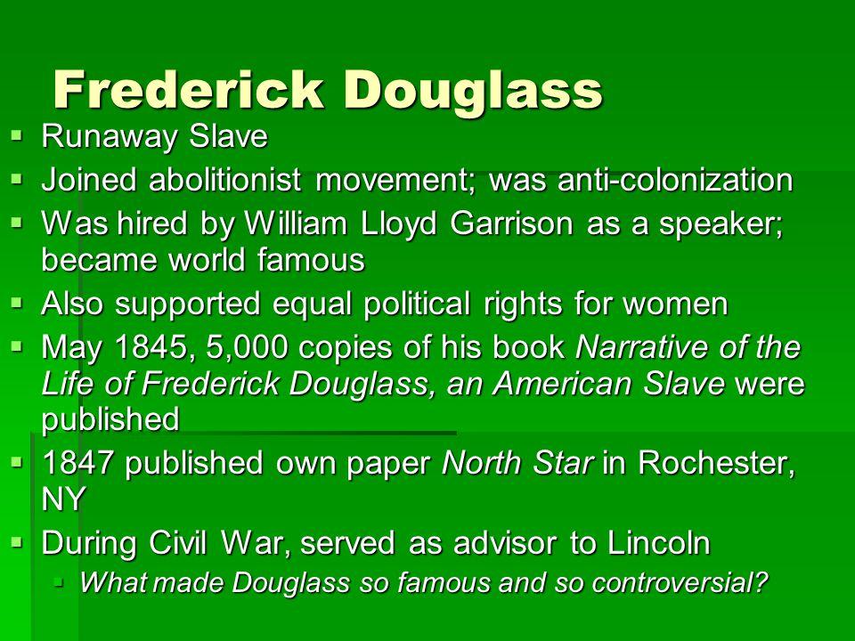 Frederick Douglass Runaway Slave