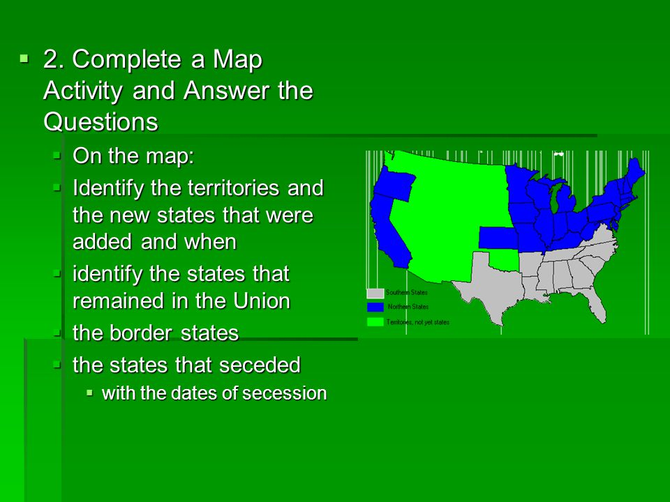 2. Complete a Map Activity and Answer the Questions