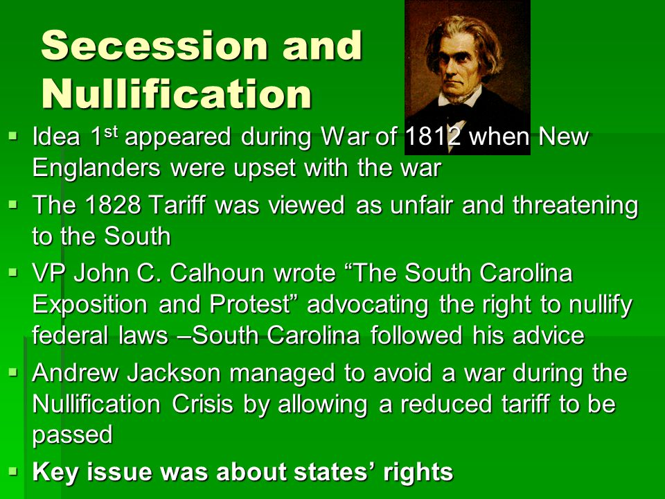 Secession and Nullification
