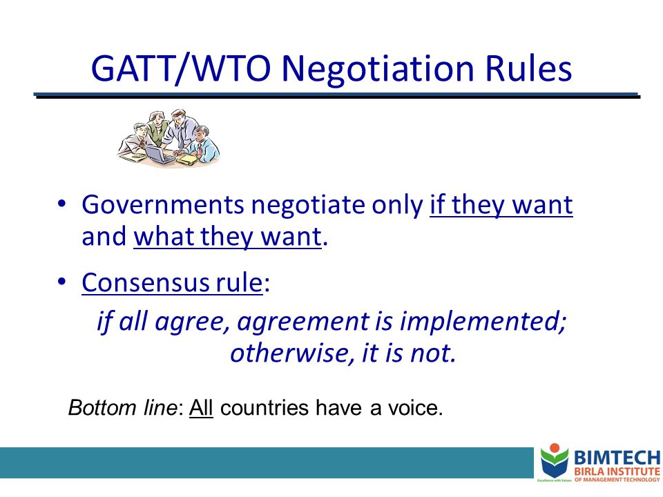GATT/WTO Negotiation Rules