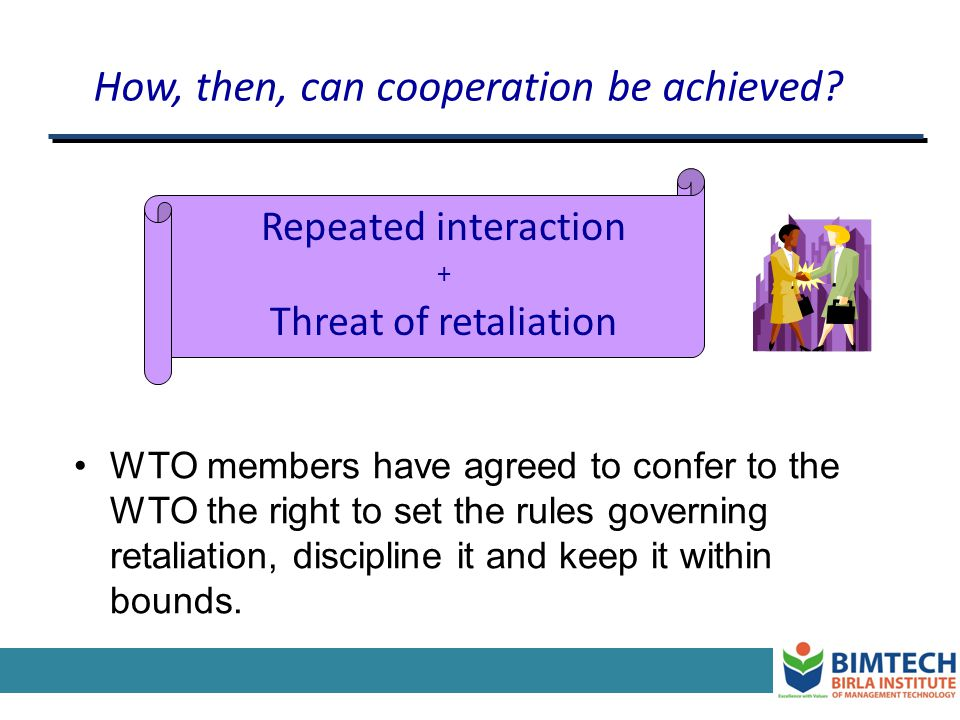 How, then, can cooperation be achieved