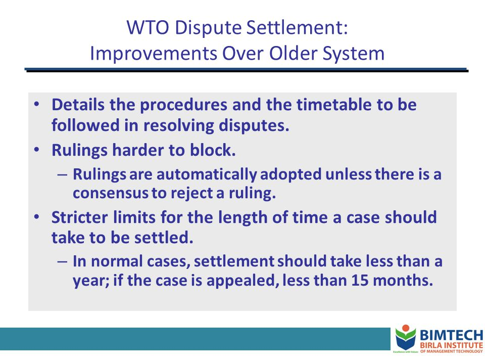 WTO Dispute Settlement: Improvements Over Older System