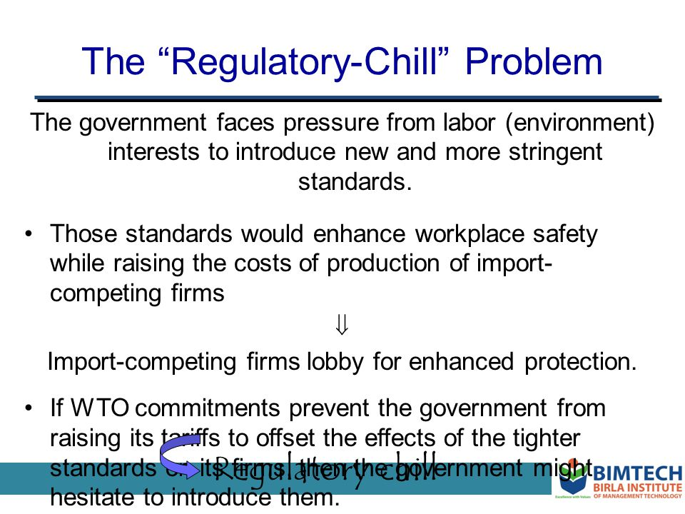 The Regulatory-Chill Problem