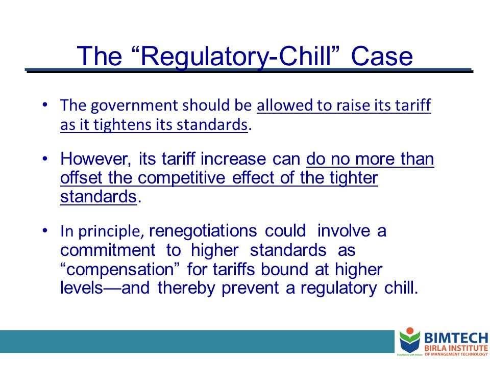 The Regulatory-Chill Case