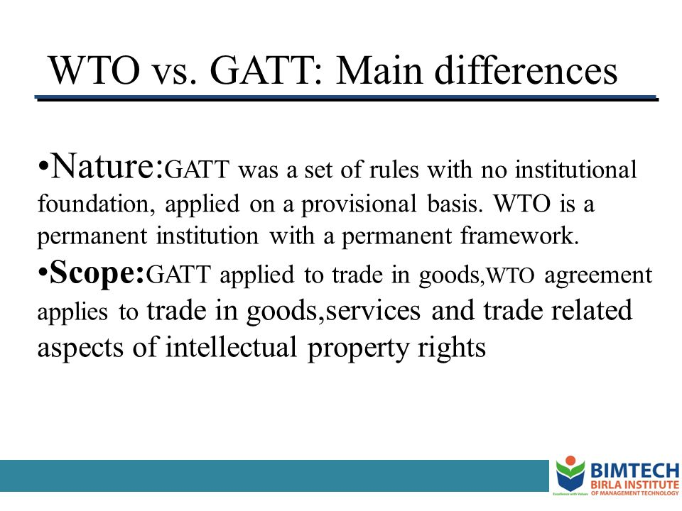 WTO vs. GATT: Main differences