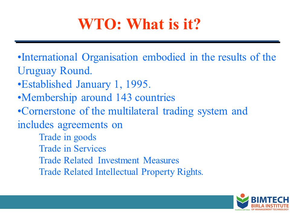 Bilateral Trading System Bilateral Trade Agreement