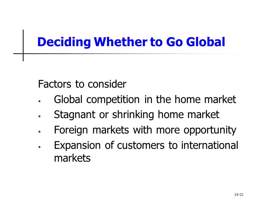 Deciding Whether to Go Global