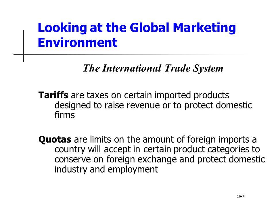 Looking at the Global Marketing Environment
