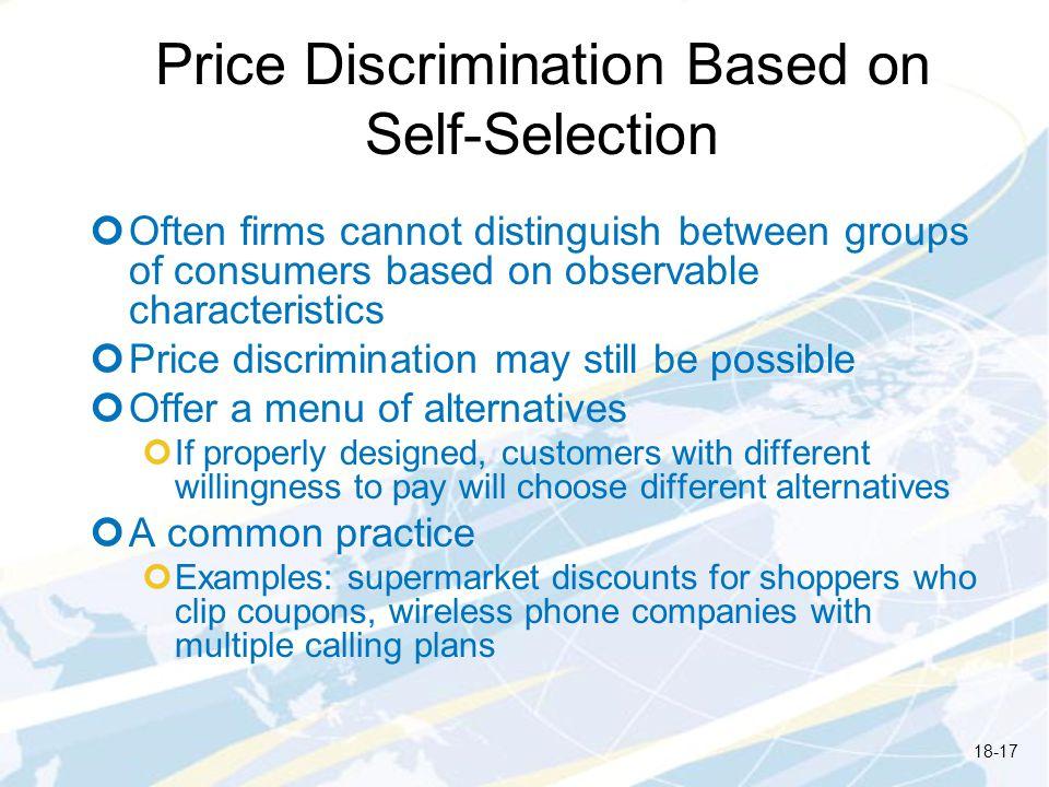 Price Discrimination Based on Self-Selection