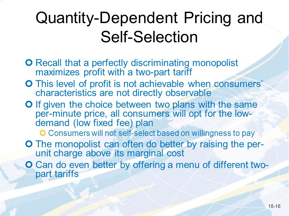 Quantity-Dependent Pricing and Self-Selection