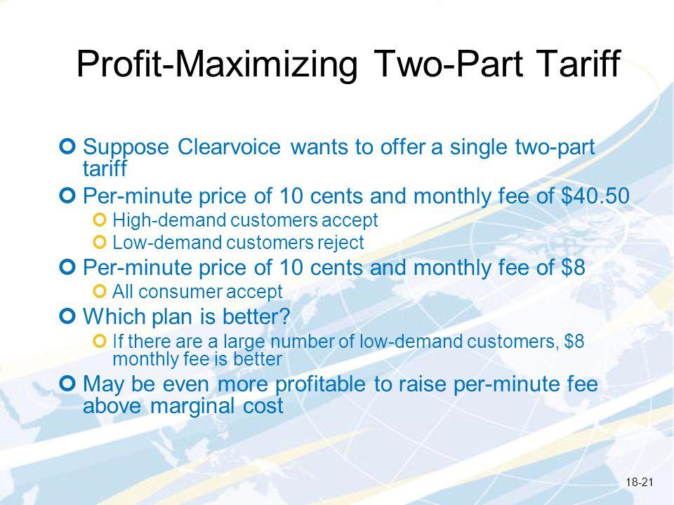 Profit-Maximizing Two-Part Tariff