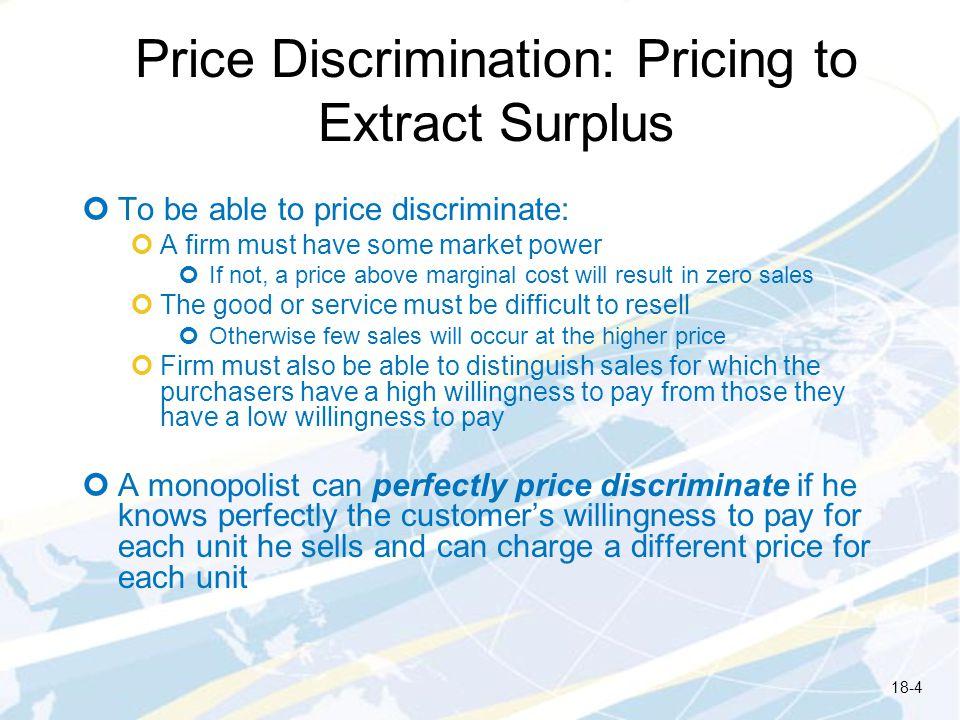 Price Discrimination: Pricing to Extract Surplus