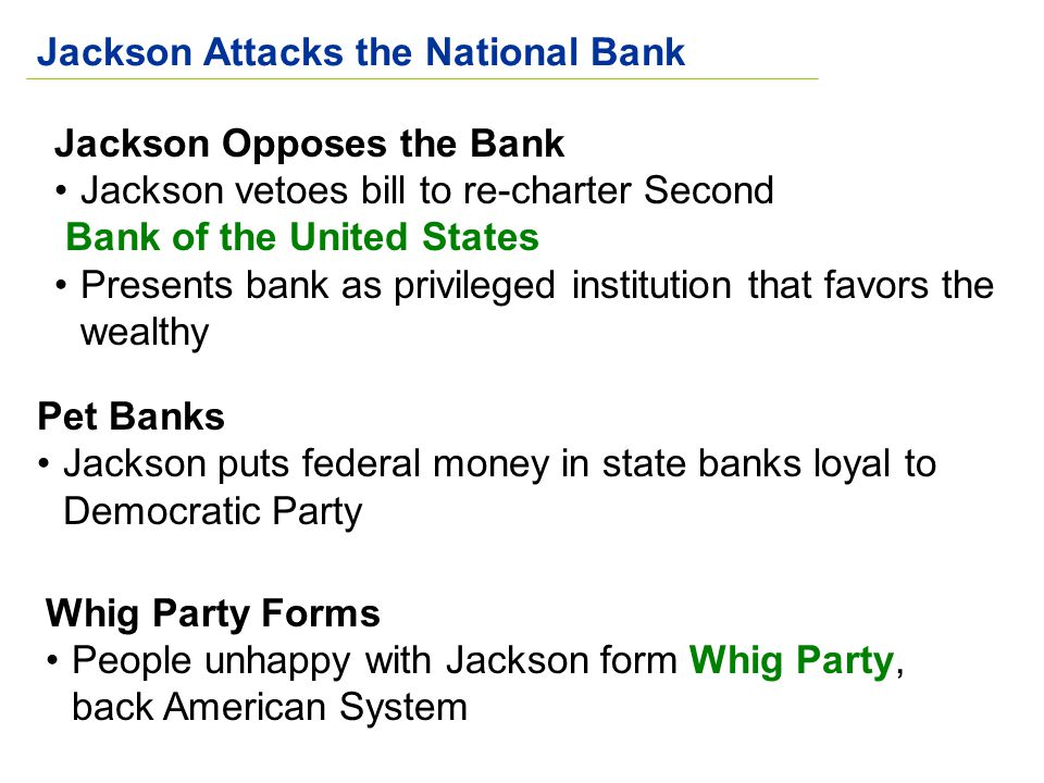 Jackson Attacks the National Bank