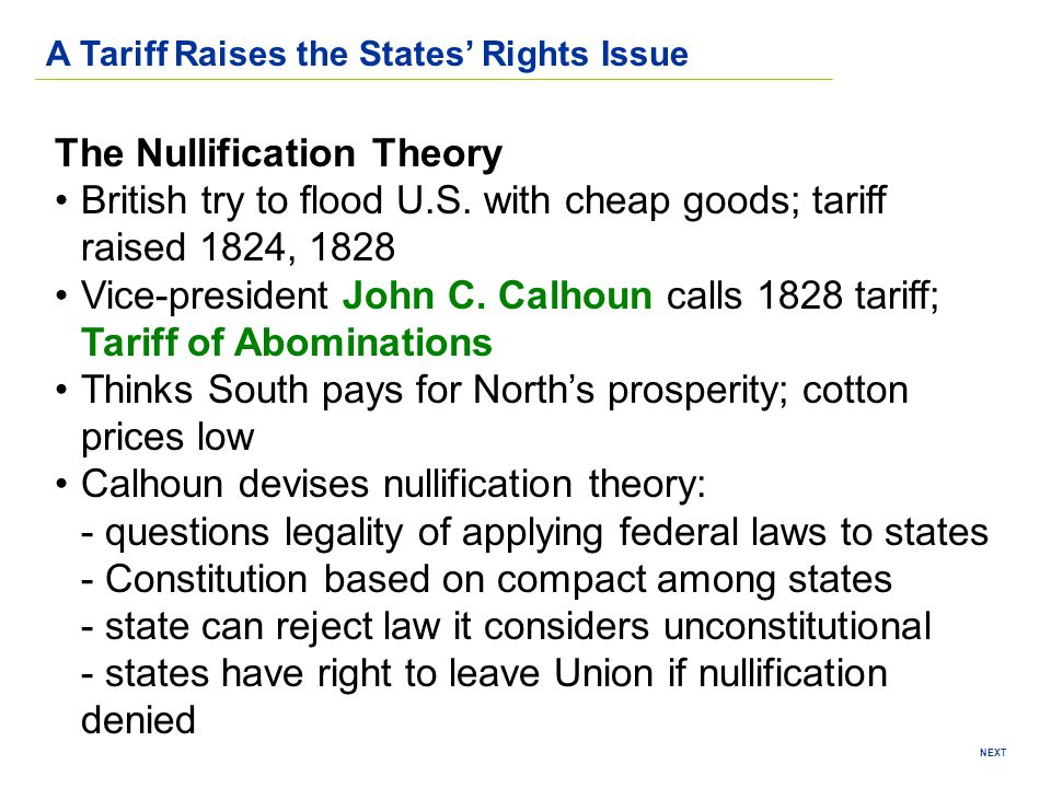The Nullification Theory