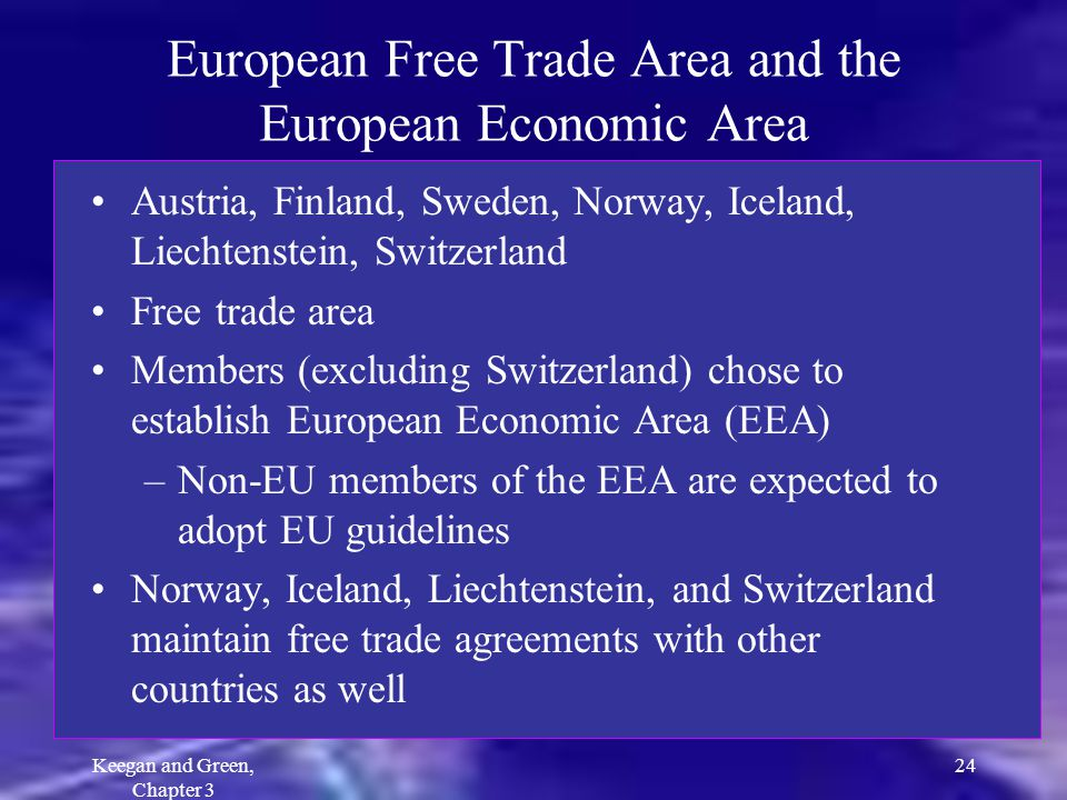 European Free Trade Area and the European Economic Area