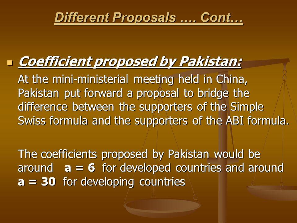 Different Proposals …. Cont…