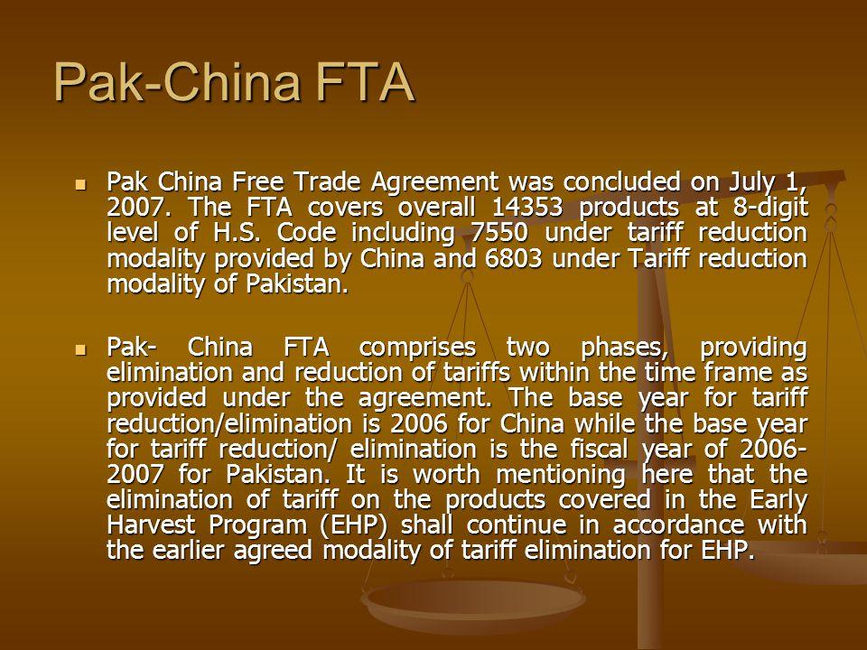 Pak-China FTA
