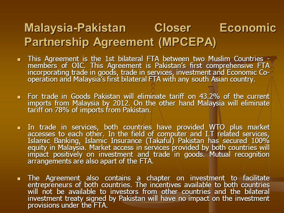 Malaysia-Pakistan Closer Economic Partnership Agreement (MPCEPA)