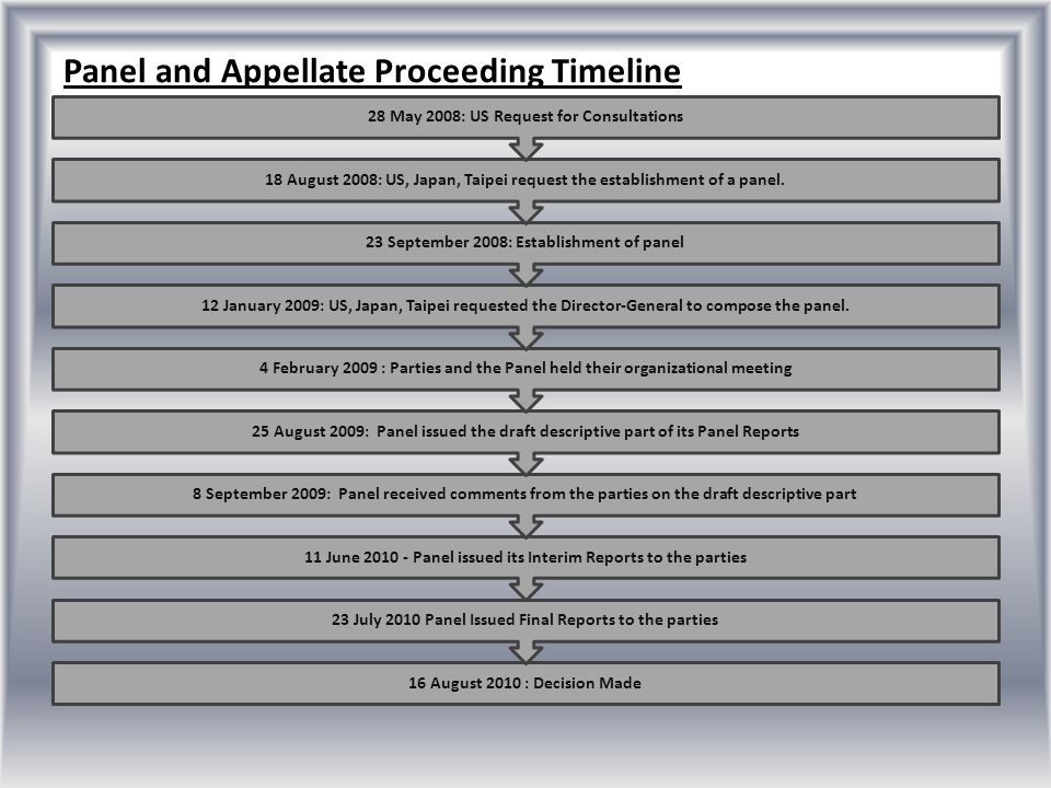 Panel and Appellate Proceeding Timeline