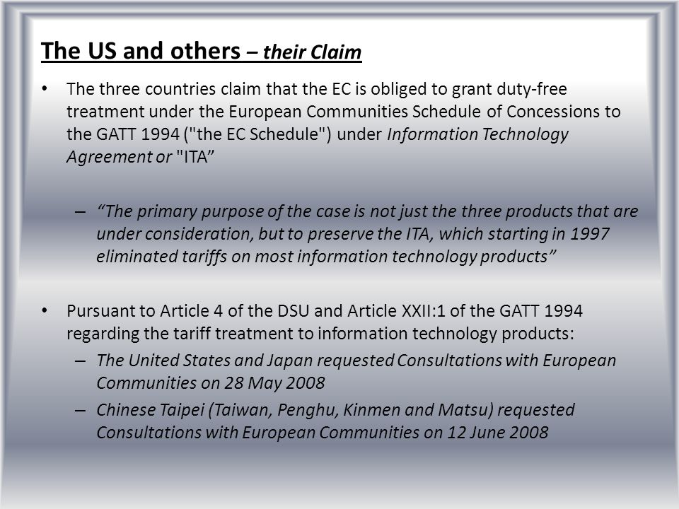 The US and others – their Claim
