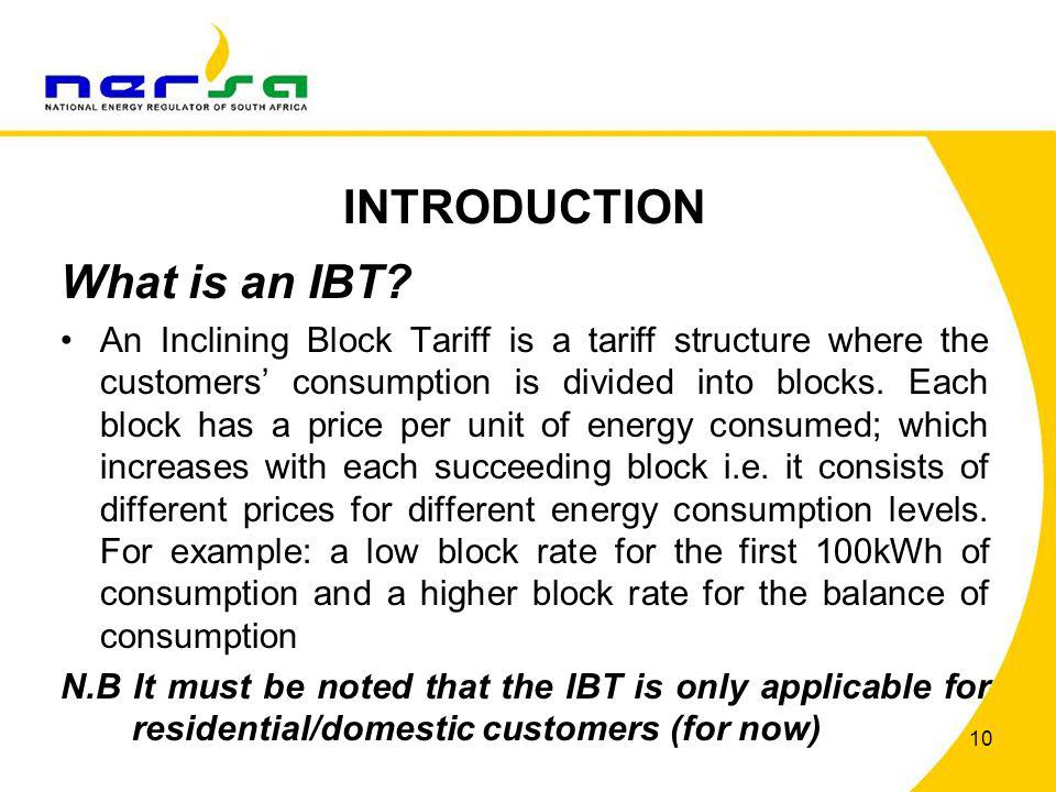 INTRODUCTION What is an IBT