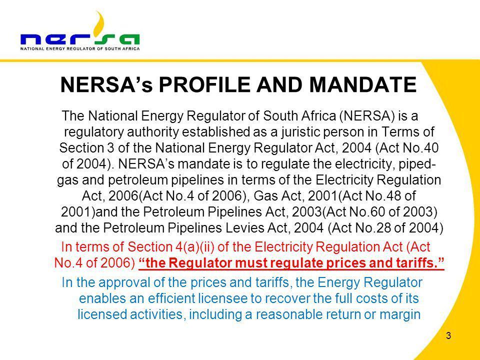 NERSA's PROFILE AND MANDATE