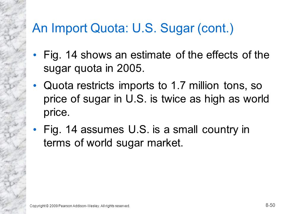An Import Quota: U.S. Sugar (cont.)