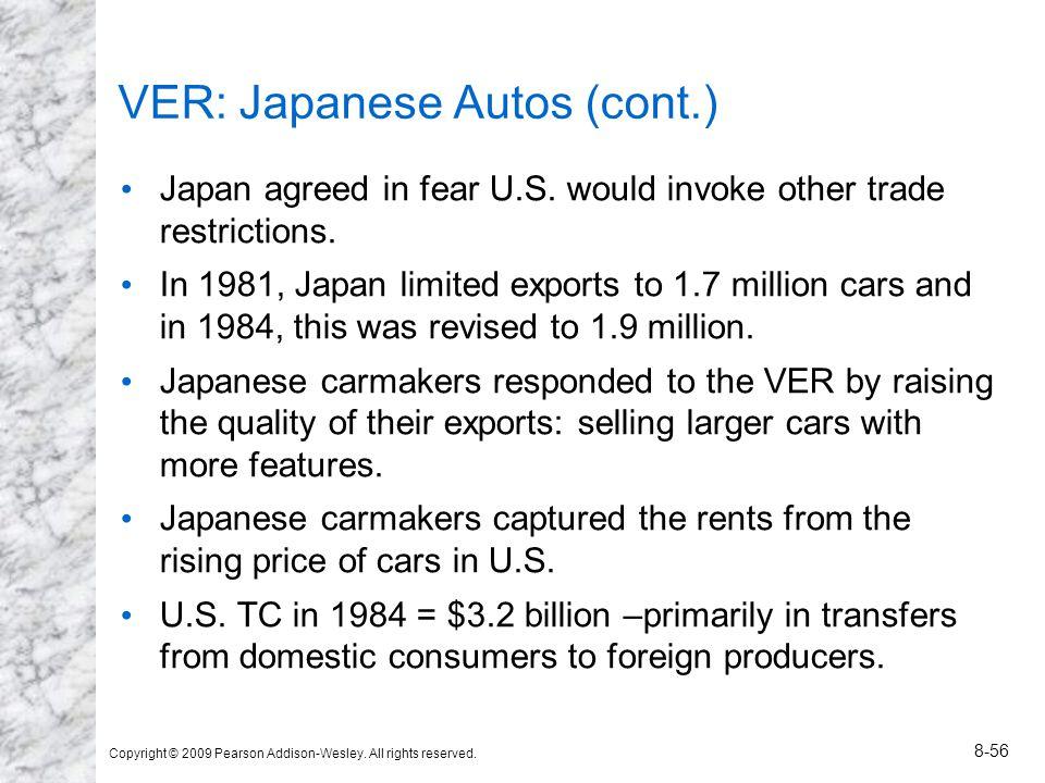 VER: Japanese Autos (cont.)