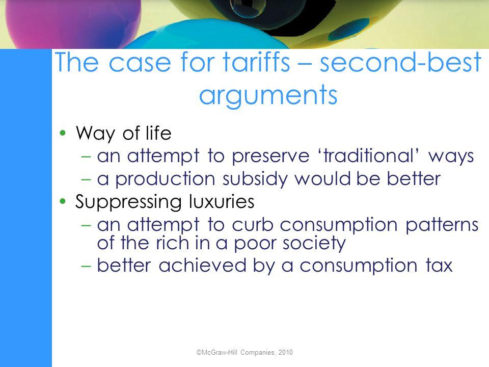 The case for tariffs – second-best arguments