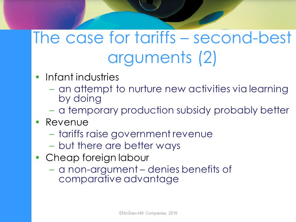 The case for tariffs – second-best arguments (2)
