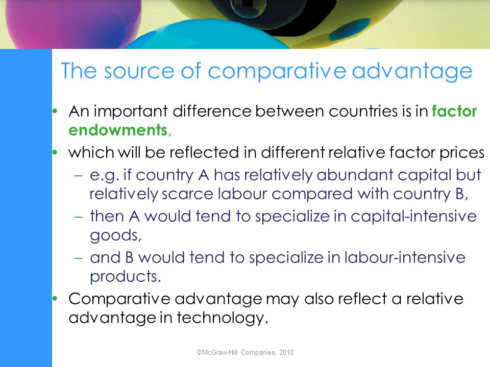 The source of comparative advantage
