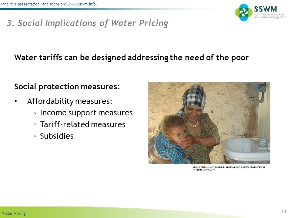 3. Social Implications of Water Pricing
