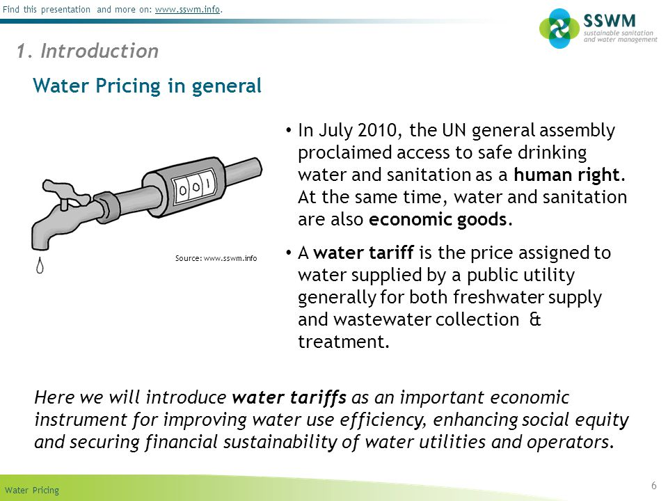 Water Pricing in general
