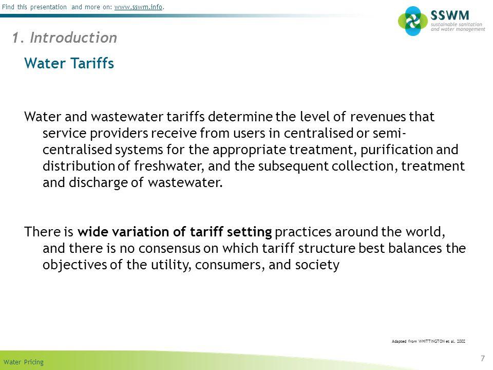 1. Introduction Water Tariffs