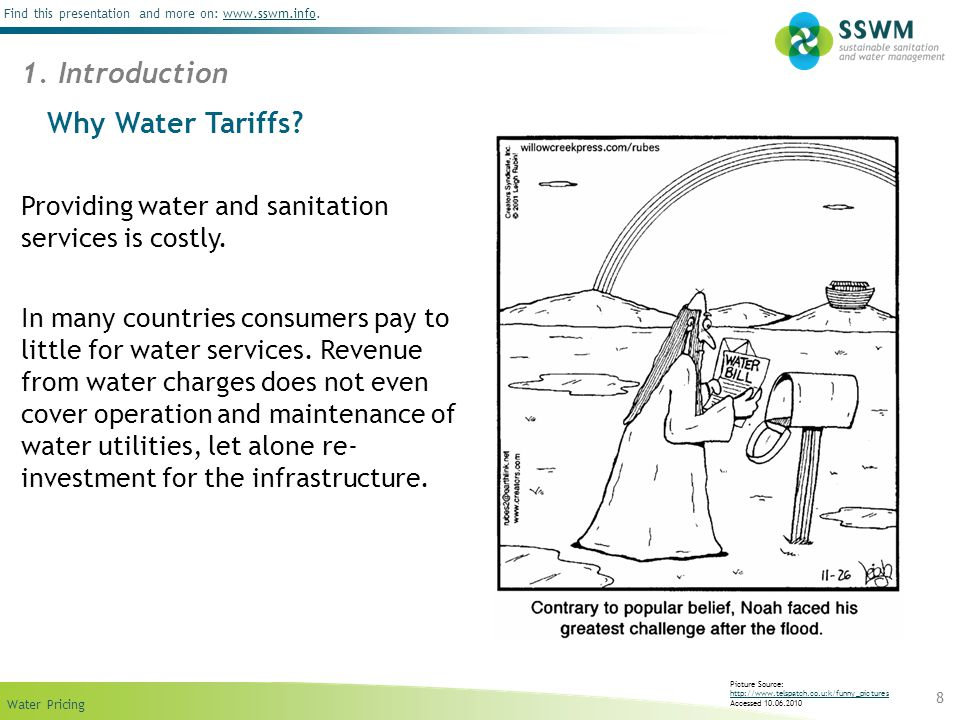 1. Introduction Why Water Tariffs