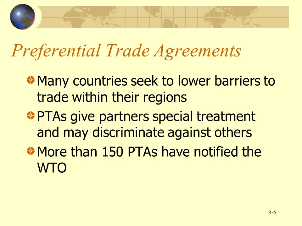 Preferential Trade Agreements