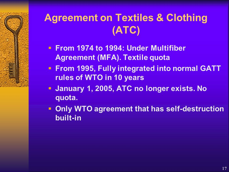 Agreement on Textiles & Clothing (ATC)