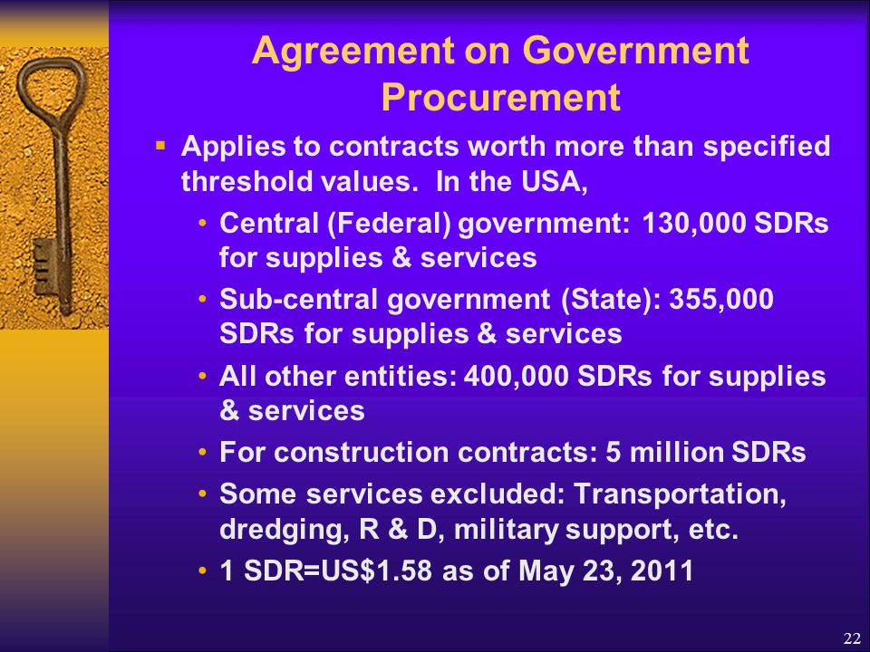 Agreement on Government Procurement