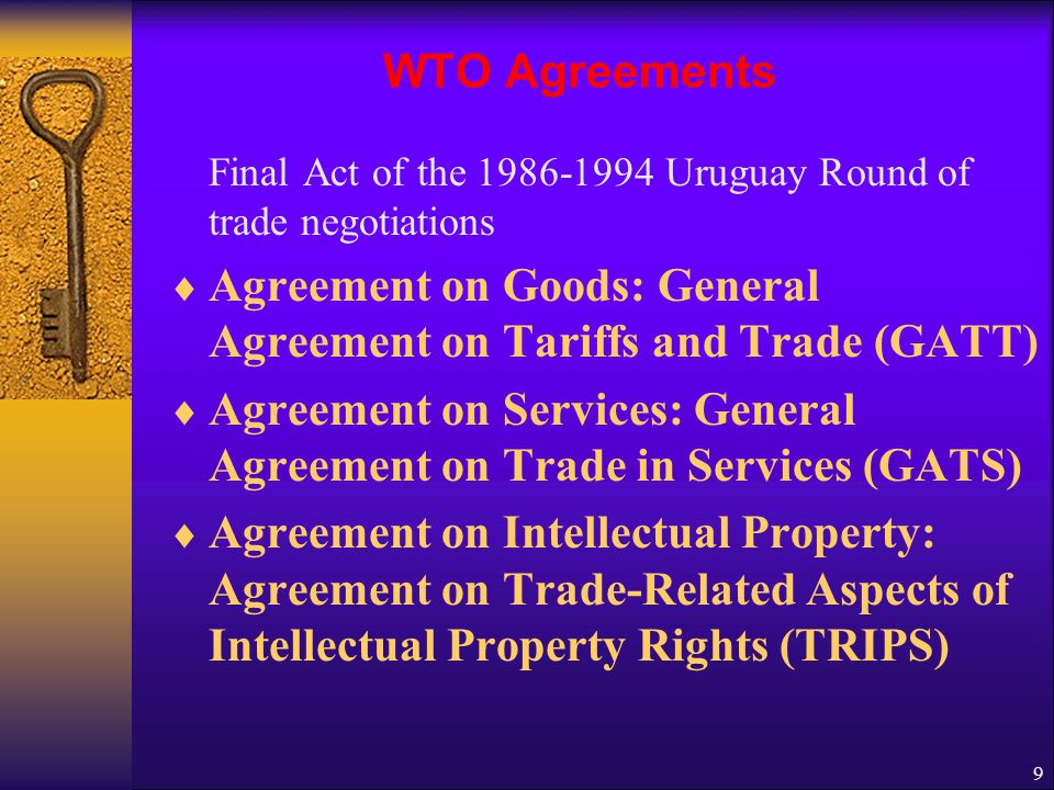 Agreement on Goods: General Agreement on Tariffs and Trade (GATT)