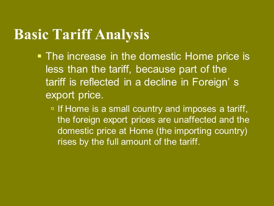 Basic Tariff Analysis