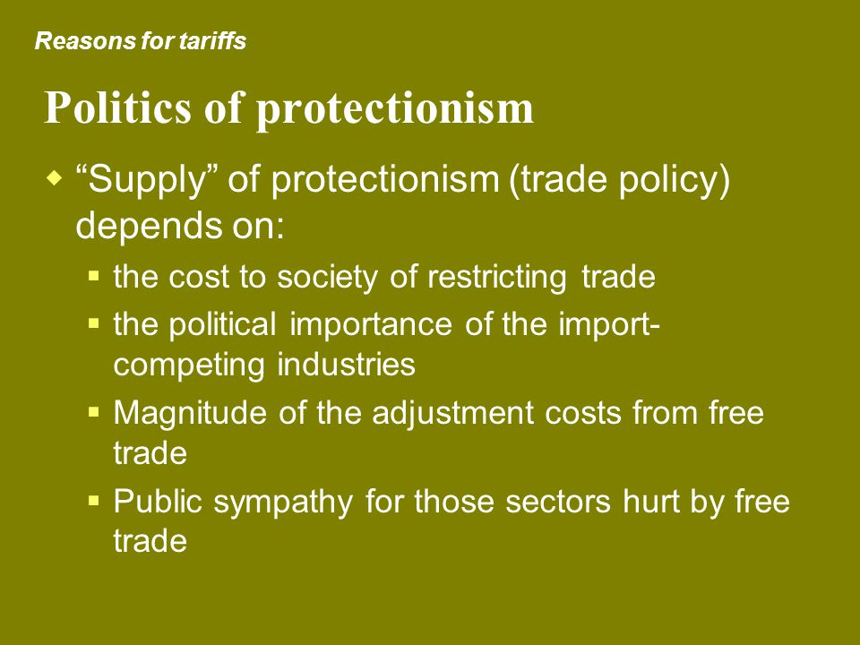 Politics of protectionism