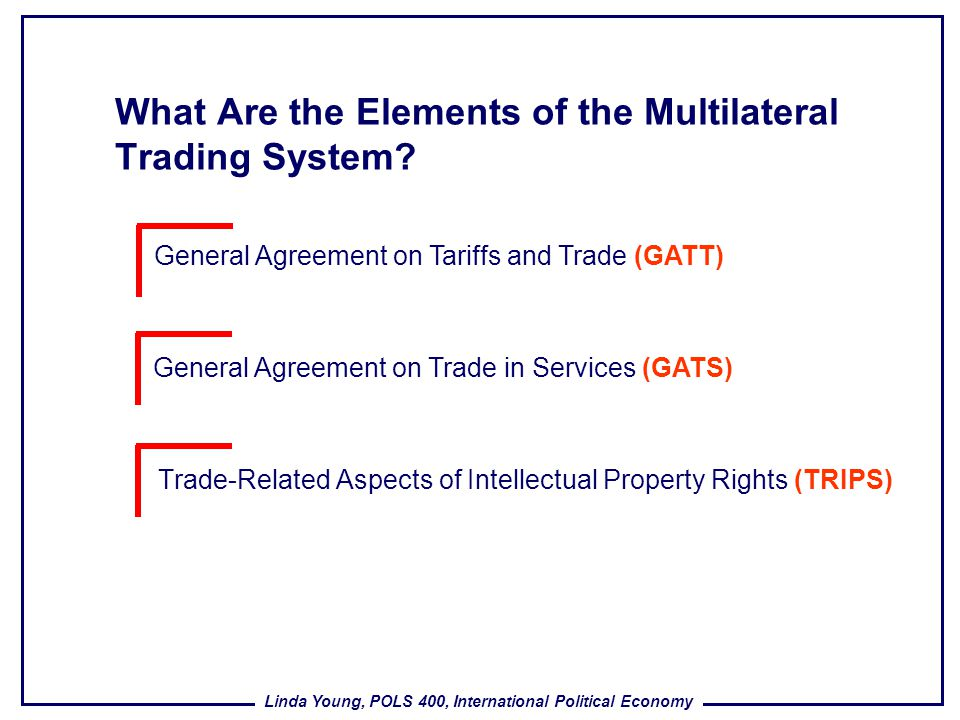 What Are the Elements of the Multilateral Trading System