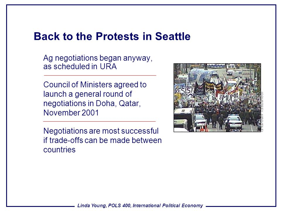 Back to the Protests in Seattle