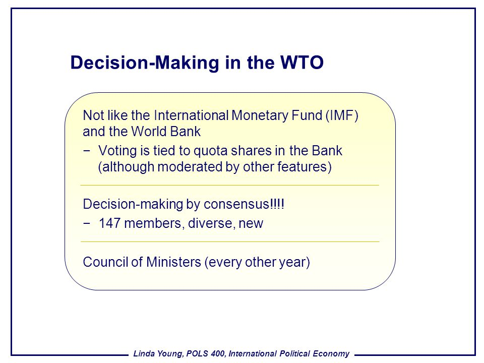 Decision-Making in the WTO