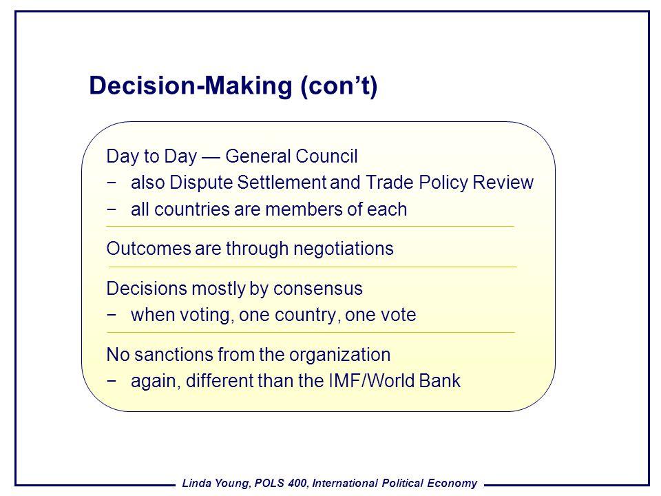 Decision-Making (con't)