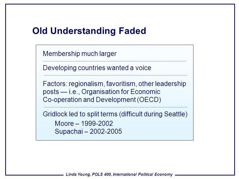 Old Understanding Faded
