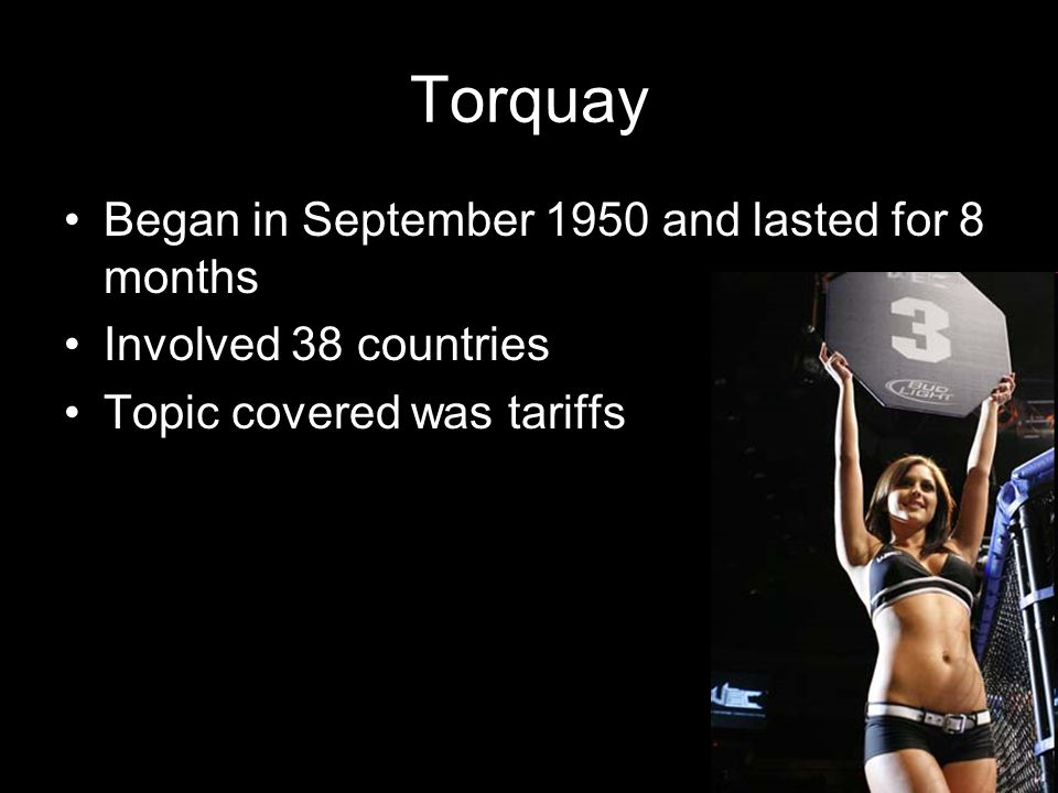 Torquay Began in September 1950 and lasted for 8 months