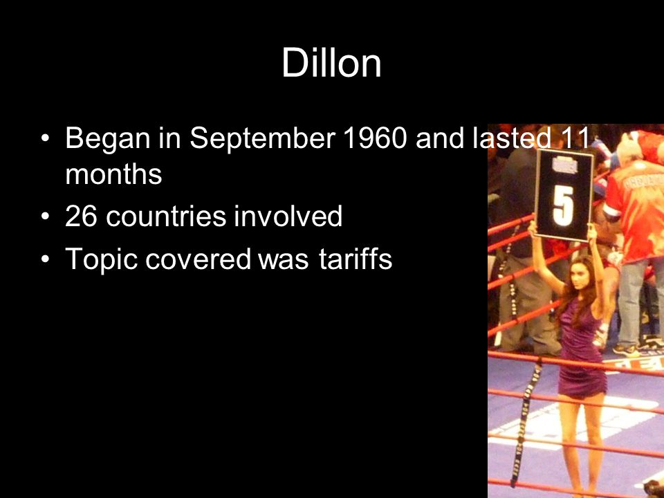 Dillon Began in September 1960 and lasted 11 months